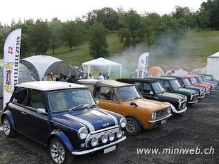 Der Mini Cooper fährt gleich weiter zum Mini Cooper Club Luzern...